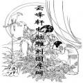 锦瑟年华-白描图-1贵妃调鹦图-中国国画仕女