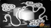 古董架002-锦盒-013-古董架浮雕灰度图