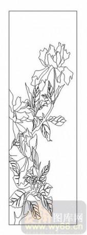 04花草禽鸟-红花绿叶-00069-艺术玻璃图库