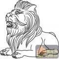 门狮子-矢量图-吉祥门狮2-门狮路径图