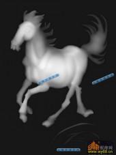 01-骏马-111-雕刻灰度图