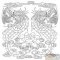 凤-白描图-凤歌鸾舞-huangf010-白描凤图案