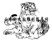 虎1-矢量图-虎略龙韬-15-虎全图
