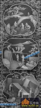 01-农家乐-089-玉雕灰度图