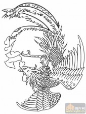 凤-矢量图-凤泊鸾飘-huangf045-国画凤图案