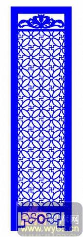 屏风001-圆环花纹-屏风1-009-密度板镂空隔断欧式花型