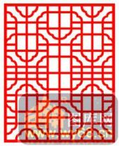 镂空装饰单式002-饰纹-镂空装饰单式002-026-镂空雕花板