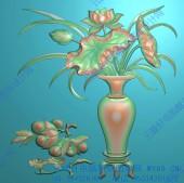 梅兰竹菊花瓶屏风全套图-A