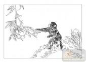 03动物系列-喜悦-00083-雕刻玻璃
