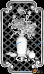 04-花枝-062-花鸟浮雕灰度图