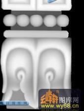 宝座004-抽象花纹-009-宝座浮雕灰度图