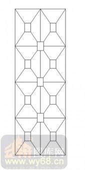 玻璃门-12镶嵌-几何图案-00057