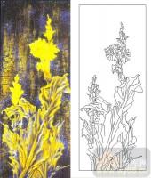 玻璃雕刻-肌理雕刻系列1-黄金花-00115