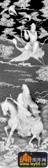 八仙002-八仙-d-浮雕灰度图