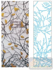 2011设计艺术玻璃刻绘-春夏秋冬-装饰玻璃