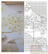 2011设计艺术玻璃刻绘-玉兰2-装饰玻璃