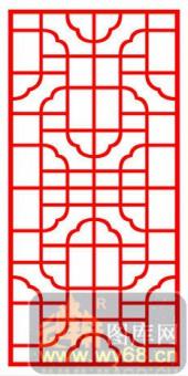 镂空装饰单式001-繁花似锦-镂空装饰单式001-024-镂空雕花矢量图