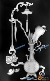 古董架002-古典花瓶-008-古董架浮雕图库