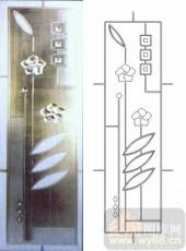 装饰玻璃-浮雕贴片-花朵-00060