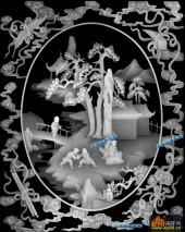 百子图002-童子乐-01(2)-浮雕灰度图