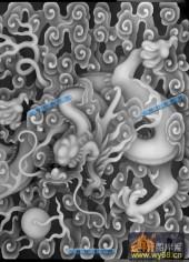 03-龙戏-050-浮雕灰度图