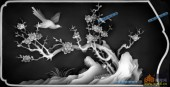 03-花鸟-057-花鸟精雕灰度图