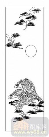 01传统系列-鹰嘴鹞目-00034-雕刻玻璃