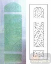 05肌理雕刻系列样图-芭蕉叶-00094-雕刻玻璃图案
