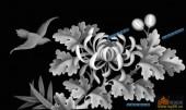 03-菊花-069-花鸟灰度图