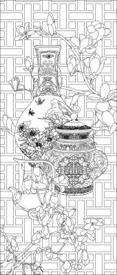 竖板73,花瓶