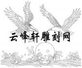 路径鹰-矢量图-雄鹰风浪-aaab7-鹰雕刻图