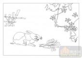 03动物系列-兔子-00002-装饰玻璃