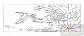 04花草禽鸟-白鹭-00064-雕刻玻璃