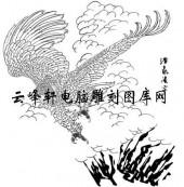 名家画鹰-矢量图-bb浩气凌空-国画鹰