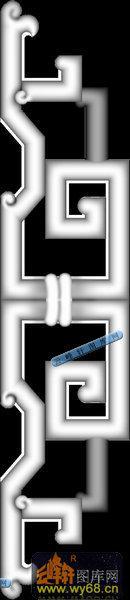 博古寿字子台-牙板直-博古寿字子台雕刻灰度图