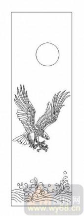 01传统系列-雄鹰展翅-00052-玻璃雕刻