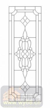 艺术玻璃-12镶嵌-对称花纹-00046
