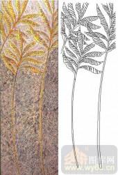 04肌理雕刻系列样图-艺术树-00244-玻璃门