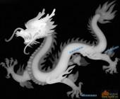 草龙-蟠龙-026-龙凤浮雕灰度图