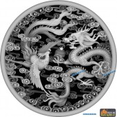 龙凤图-龙凤呈祥-012-浮雕灰度图
