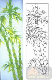 喷砂玻璃图库-肌理雕刻系列1-翠竹-00075