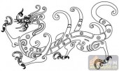 龙-白描图-张牙舞爪-long15-中国白描龙
