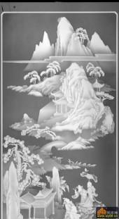 八仙多宝格-八仙-744-雕刻灰度图