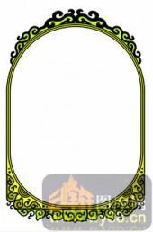 欧式镂空装饰001-绿色花框-欧式镂空装饰001-042-欧式镂空图