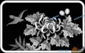03-菊花-071-花鸟浮雕灰度图