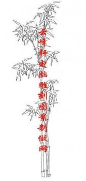 梅兰竹菊-白描图-竹子-mlxj021-梅兰竹菊白描线描图