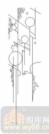 装饰玻璃-06四扇门(2)-抽象图案-00066