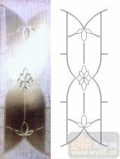 艺术玻璃图库-浮雕贴片-花纹-00044