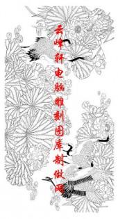 长卷鹤-矢量图-鹤舞摇芳-仙鹤雕刻图片