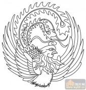 凤-白描图-舞凤飞龙-huangf034-中国白描凤